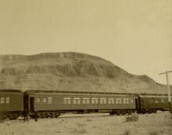 Pullman car on a passenger train, ca. 1910s.