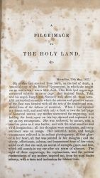 A pilgrimage to the Holy Land by Alphonse de Lamartine.