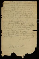 "Holograph poem, ""Mother Thoughts,"" by Joseph McGarrity, 1914.  <a href=""http://digital.library.villanova.edu/Joseph%20McGarrity%20Collection/Joseph%20McGarrity%20Papers/JosephMcGarrityPapers-06c0a639-f9bd-428d-b56c-ad1b0b279d7c.xml"">[Digital Library]</a>"