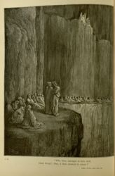 "Dor_Virgil_and_Dante_among_the_envious_of_Purgatorio.jpg<br/><span style=""font-size: 70%;"">Gustave Doré. Penance of the Envious. 'Who then, amongst us here aloft,/ Hath brought; thee, if thou weeniest to return?' Inf. XIII. 129-130. Source: Dante Alighieri, Henry Francis Cary, and Gustave Doré. Purgatory and Paradise. new ed. New York [etc.]: Cassell & company, limited, 1883.</span>"