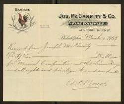 Receipt for muscial composition of Fenian Days