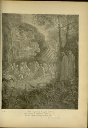 "Dor_negligent_rulers.jpg<br/><span style=""font-size: 70%;"">Gustave Doré. Negligent Rulers. 'Salve Regina, on the grass and flowers,/ Here chanting, I beheld those spirits sit,/ Who not beyond the valley could be seen.' Purg. VII. 82-84. Source: Dante Alighieri, Henry Francis Cary, and Gustave Doré. Purgatory and Paradise. new ed. New York [etc.]: Cassell & company, limited, 1883.</span>"