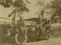 A group of friends about to set off on a cross-country road trip, 1924.