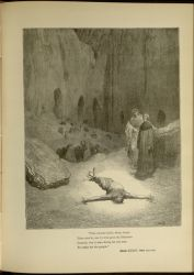 "Dor_Calaphas.jpg<br/><span style=""font-size: 70%;"">Gustave Doré. Calaphas. 'That pierced spirit, whom intent/ Thou view'st, was he who gave the Pharisees/ counsel, that it were fitting for one man./ To suffer for the people.' Inf. XXIII. 117-120. Source: Dante Alighieri, Henry Francis Cary, and Gustave Doré. Inferno. New Edition. New York. P.F. Collier, limited, 1883. Falvey Memorial Library. Special Collections.</span>"