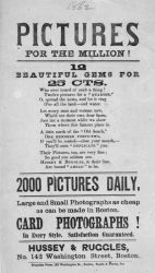Advertisement for Photography Gallery