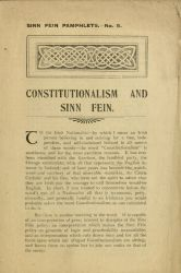 "Pamphlet, ""Constitutionalism and Sinn Fein,"" n.d."