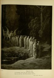 "Dor_procession_with_Griffin.jpg<br/><span style=""font-size: 70%;"">Gustave Doré. Procession with Griffin. 'Beneath a sky/ so beautiful, came four and twenty elders,/ by two and two, with flower-de-luces crown'd.' Purg. XXIX. 80-82. Source: Dante Alighieri, Henry Francis Cary, and Gustave Doré. Purgatory and Paradise. new ed. New York: Cassell & company, limited, 1883.</span>"