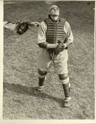 Michael Garbark, '38, Catcher. (Courtesy of the University Archives)
