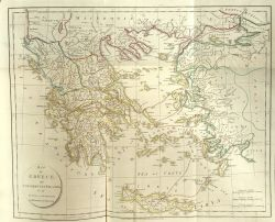 Travels of Anacharsis the Younger in Greece: Map of Greece.