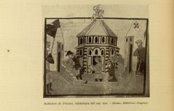 "Baptistery of Florence<br/><span style=""font-size: 70%;"">Source: Dante Alighieri, and Corrado Ricci. La Divina Commedia. Milano: U. Hoepli, 1921. Falvey Memorial Library. Special Collections.</span>"