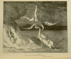 "Dor_devils_fighting.jpg<br/><span style=""font-size: 70%;"">Gustave Doré. Devils Fighting. 'In pursuit/ He therefore sped, exclaiming, Though art caught.' Inf. XXII. 125-126. Source: Dante Alighieri, Henry Francis Cary, and Gustave Doré. Inferno. New Edition. New York. P.F. Collier, limited, 1883. Falvey Memorial Library. Special Collections.</span>"