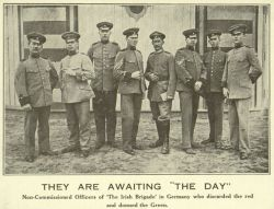 "Postcard, With Image of Officers of ""The Irish Brigade"", n.d."