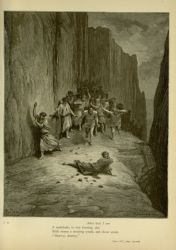 "Dor_St.jpg<br/><span style=""font-size: 70%;"">Gustave Doré. Saint Stephen: Example of Gentleness. Terrace of the Wrathful. 'After that I saw/ A multitude, in fury burning, slay/ With stones a stripling youth, and shout amain/ Destroy, destroy.' Purg. XV. 103-106. Source: Dante Alighieri, Henry Francis Cary, and Gustave Doré. Purgatory and Paradise. new ed. New York: Cassell & company, limited, 1883.</span>"