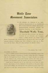 "Circular, ""To the Officers and Members of All Irish-American Organizations,"" May 3, 1913"