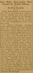 """How Molly McLoughlin Was Treated by British Officers,"" by Nora Connolly, The Clan-na-Gael Journal, No. 30, October 22, 1916, page 2."