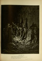 "Dor_Dante_and_Virgil_among_the_lustful.jpg<br/><span style=""font-size: 70%;"">Gustave Doré. Penance of the Lustful. 'And when I saw/ Spirits along the flame proceeding, I/ Between their footsteps and mine own was fain/ To share by turns my view.' Purg. XXV. 119-122. Source: Dante Alighieri, Henry Francis Cary, and Gustave Doré. Purgatory and Paradise. new ed. New York [etc.]: Cassell & company, limited, 1883.</span>"