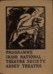 Front cover, Abbey Theatre Program, December 1904