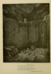 "Dor_Dante_and_Virgil_among_the_falsifiers.jpg<br/><span style=""font-size: 70%;"">Gustave Doré. The Falsifiers. 'Then my sight/ Was livelier to explore the depth, wherein/ The minister of the most mighty Lord,/ All-searching Justice, dooms to punishment/ The forgers noted on her dread record.' Inf. XXIX. 52-56. Source: Dante Alighieri, Henry Francis Cary, and Gustave Doré. Inferno. New Edition. New York. P.F. Collier, limited, 1883. Falvey Memorial Library. Special Collections.</span>"