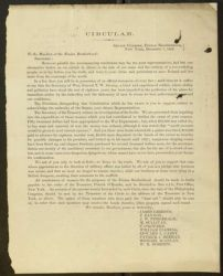 Circular: To the Officers and Members of the F.B., December 7, 1865, back.
