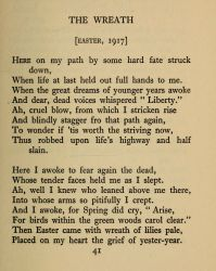 """The Wreath [Easter 1917],"" in The Tricolour: Poems of the Irish Revolution by Dora Sigerson Shorter, 1922, page 41."