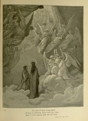 "Dor_host_of_blessed.jpg<br/><span style=""font-size: 70%;"">Gustave Doré. The Blessed. 'So drew/ Full more than thousand splendours towards us.' Par. V. 99-100. Source: Dante Alighieri, Henry Francis Cary, and Gustave Doré. Purgatory and Paradise. new ed. New York: Cassell & company, limited, 1883.</span>"