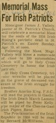 """Memorial Mass For Irish Patriots,"" [1966]."