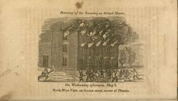Burning of the convent during the rioting