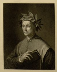 "Portrait of Dante.<br/><span style=""font-size: 70%;"">Source: Vernon, William Warren, de Imola Benvenutus, and Edward Moore. Readings On the Inferno of Dante: Chiefly Based On the Commentary of Benvenuto Da Imola. London ; New York: Macmillan and Co., 1894. Falvey Memorial Library. Special Collections.</span>"