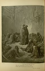 "Dor_Envious_of_Purgatorio.jpg<br/><span style=""font-size: 70%;"">Gustave Doré. The Envious of the Purgatorio. 'E'en thus the blind and poor,/ Near the confessionals, to crave an alms,/ Stand, each his head upon his fellow's sunk. Purg. XII. 55-57. Source: Dante Alighieri, Henry Francis Cary, and Gustave Doré. Purgatory and Paradise. new ed. New York [etc.]: Cassell & company, limited, 1883.</span>"