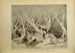 "Dor_wood_of_suicides.jpg<br/><span style=""font-size: 70%;"">Gustave Doré. The Wood of Suicides. 'Haste now, the foremost cried, now haste thee, death!' Inf. XIII. 120. Source: Dante Alighieri, Henry Francis Cary, and Gustave Doré. Inferno. New Edition. New York. P.F. Collier, limited, 1883. Falvey Memorial Library. Special Collections.</span>"