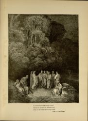 "Dor_virtuous_pagans_in_limbo_converse_with_dante.jpg<br/><span style=""font-size: 70%;"">Gustave Doré. Virtuos Pagans in hell. 'So I beheld united the bright school/ of him the monarch of sublimest song/ that o'er the others like an eagle soars.' Inf. IV. 89-91. Source: Dante Alighieri, Henry Francis Cary, and Gustave Doré. Inferno. New Edition. New York. P.F. Collier, limited, 1883. Falvey Memorial Library. Special Collections.</span>"