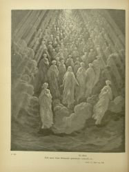 "Dor_souls_of_the_Just.jpg<br/><span style=""font-size: 70%;"">Gustave Doré. Souls of the Just. 'For that all those living lights,/ Waxing in splendour, burst forth into songs,/ Such as from memory glide and fall away.' Par. XX. 10-12. Source: Dante Alighieri, Henry Francis Cary, and Gustave Doré. Purgatory and Paradise. new ed. New York: Cassell & company, limited, 1883.</span>"