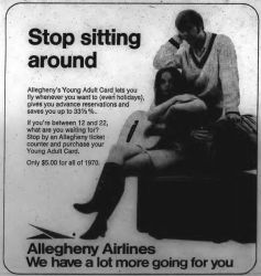 Ad for Allegheny Airlines, 1970.