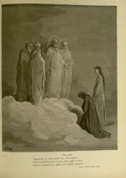 "Dor_St_John.jpg<br/><span style=""font-size: 70%;"">Gustave Doré. St. John. 'Say then,/ Beginning, to what point thy soul aspires;/ And meanwhile rest assured, that sight in thee/ Is but o'erpowered a space, not wholly quench'd.' Par. XXVI. 7-10. Source: Dante Alighieri, Henry Francis Cary, and Gustave Doré. Purgatory and Paradise. new ed. New York: Cassell & company, limited, 1883.</span>"
