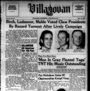 Front page of Villanovan