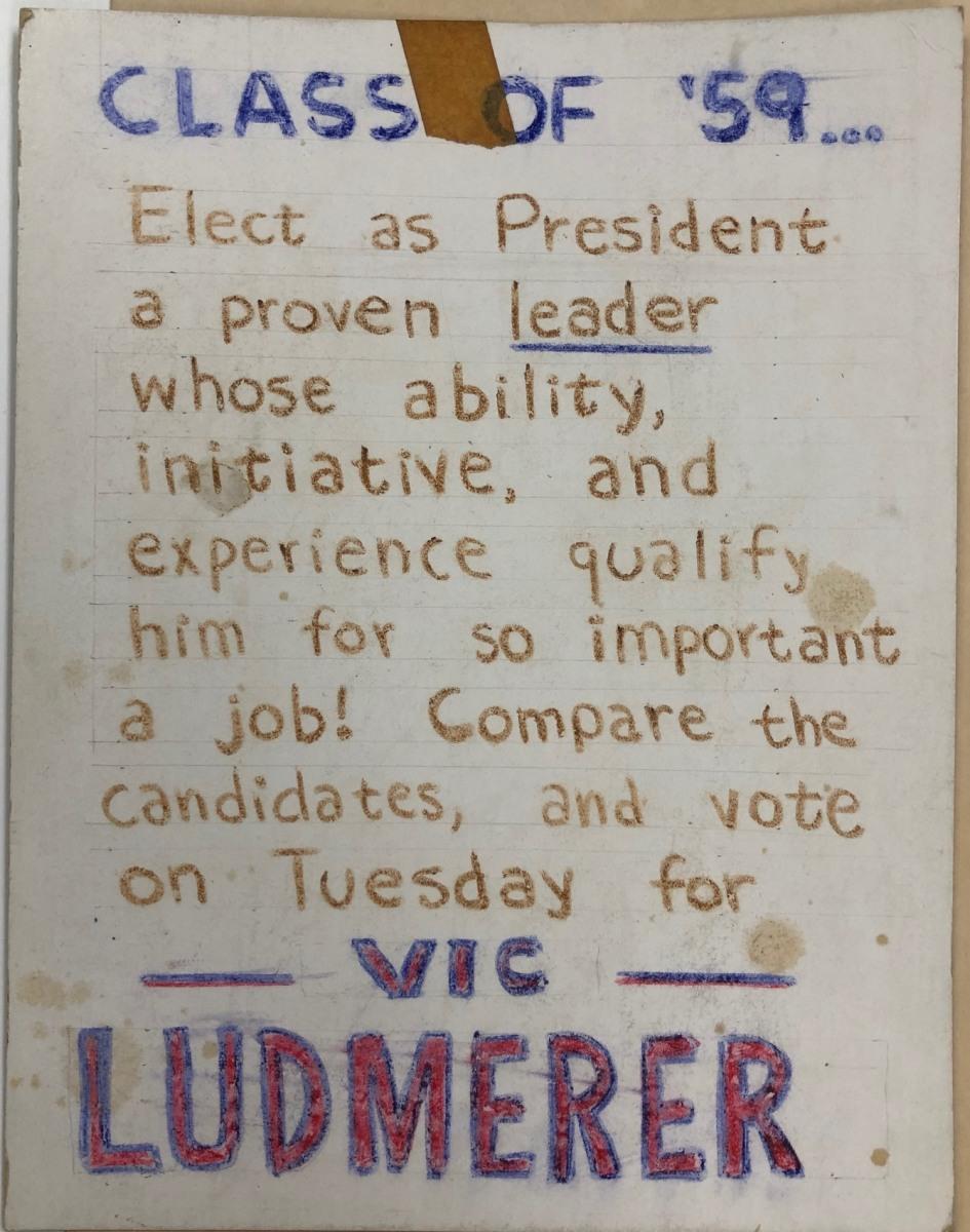 Vote Vic Ludmerer