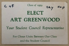 Elect Art Greenwood card