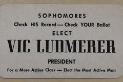 Vote Vic Ludmerer card