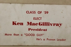 Vote Ken MacGillivray card